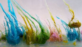 Colorful strands of metallic salts