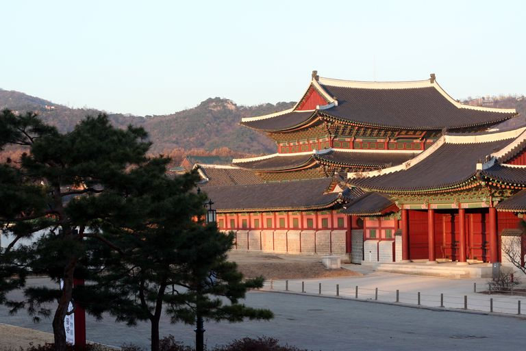 The Reconstructed Joseon Dynasty Gyeonbok Palace in Old Seoul