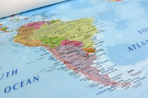 South America geographical view