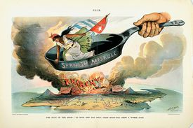 Spanish-American war lithograph