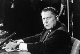 Jimmy Hoffa, a known Mob associate