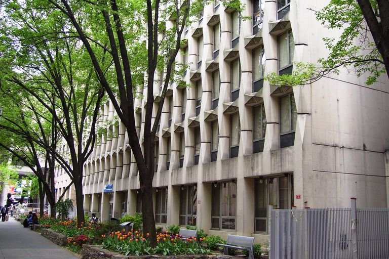 Nagler Hall dormitory at the Fashion Institute of Technology