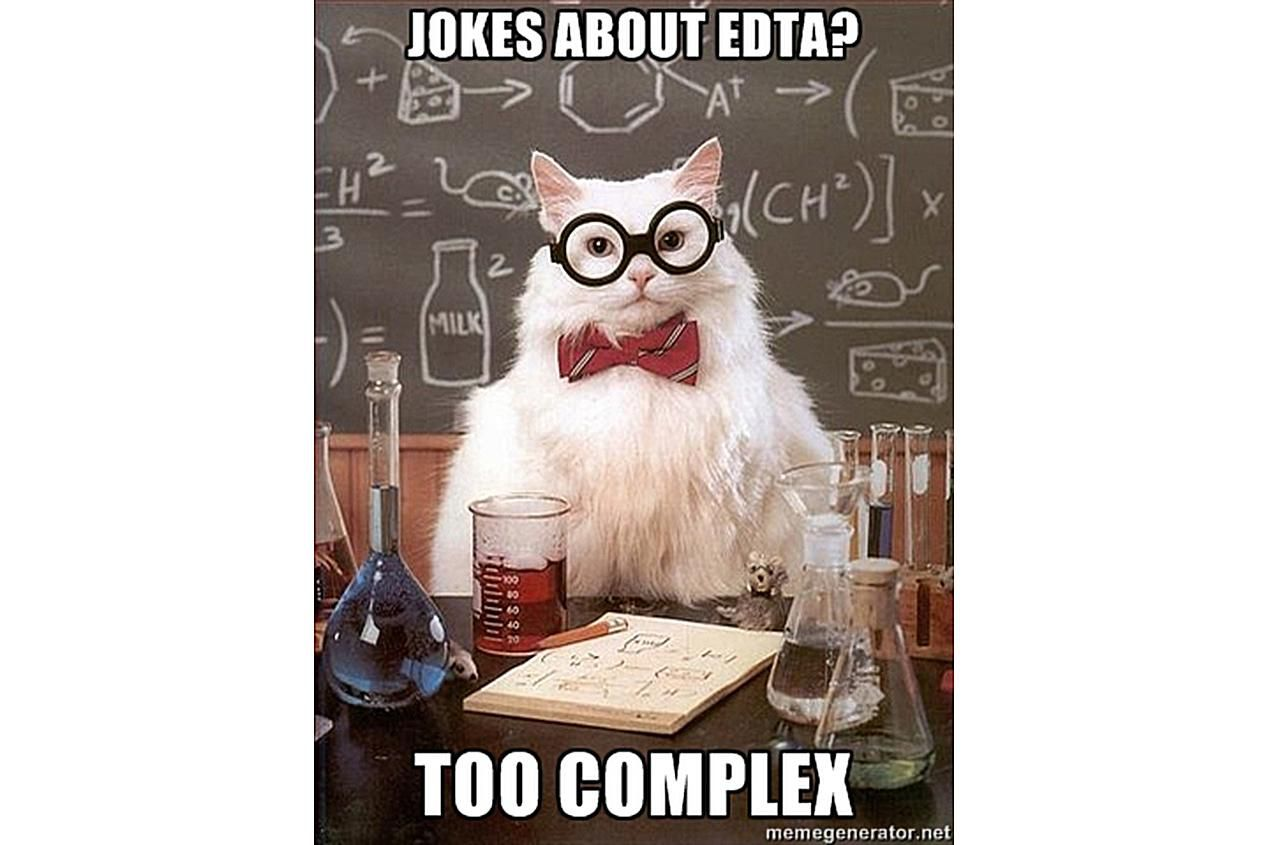 Chemistry Cat knows EDTA is a complex solution.