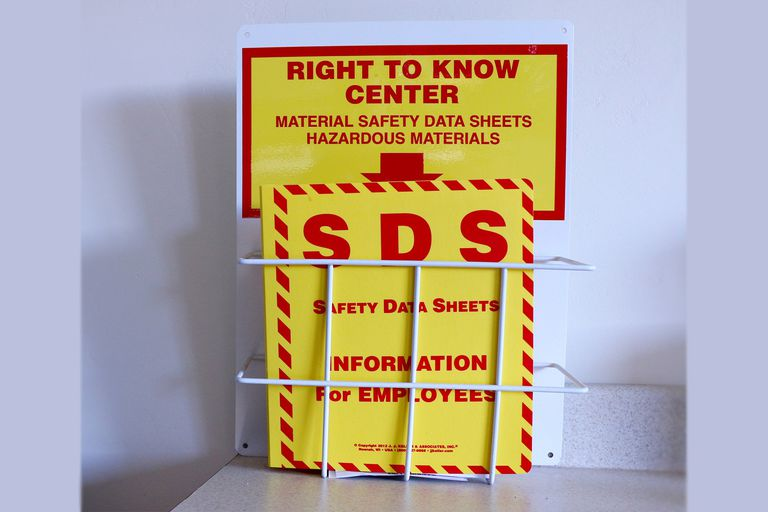 Safety data sheet display