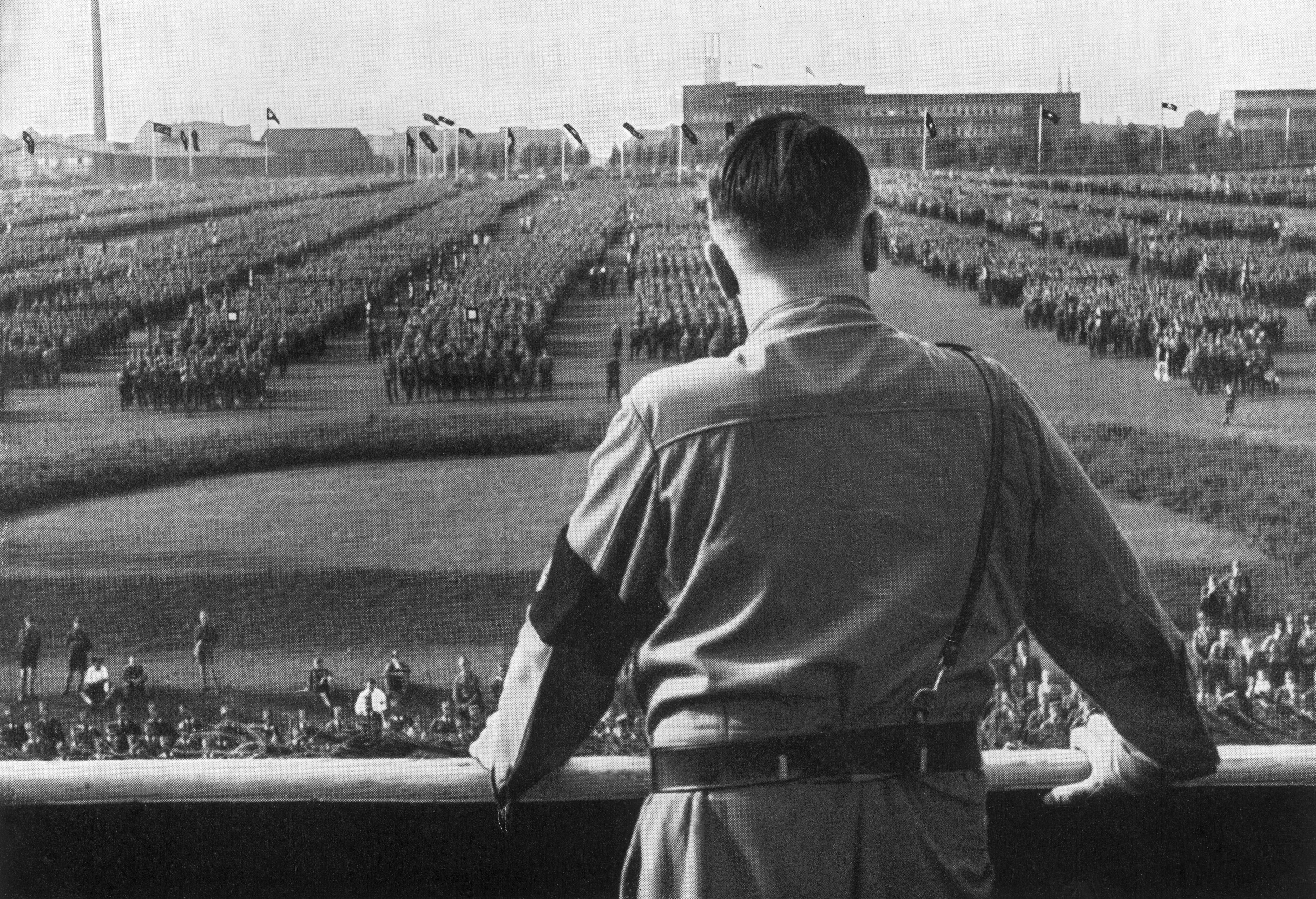 Hitler Reviews Troops