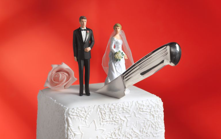 Divorce wedding cake