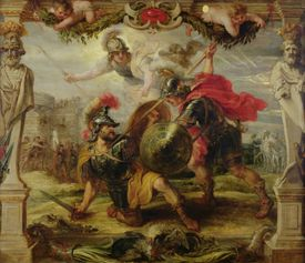 Painting of Achilles Defeating Hector.