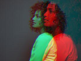 Double exposure portrait