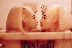 Alabaster Figurines Tutankhamen's Tomb (Egyptian museum, Cairo, Egypt)