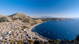 Copacabana - Panoramic View of Town and Bay