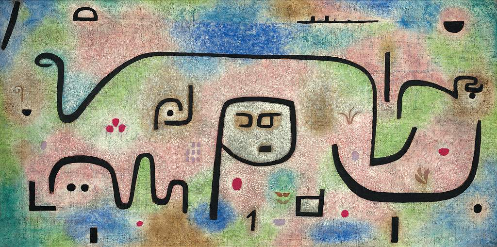 Abstract linear Painting in pastel colors titled Insula Dulcamara