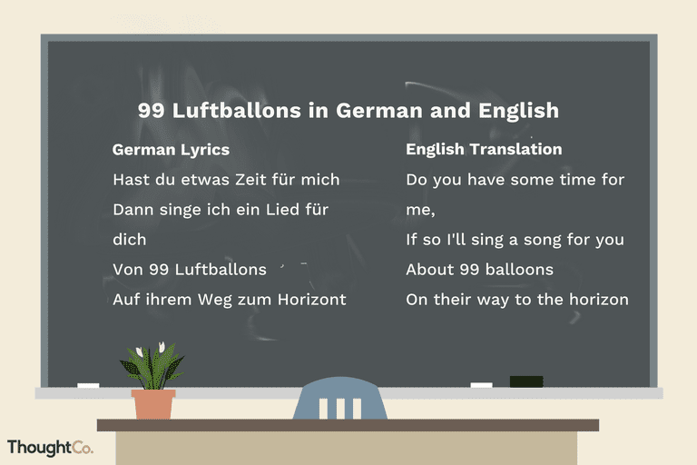 O Tannenbaum Text Deutsch.Learn The German Lyrics To 99 Luftballons