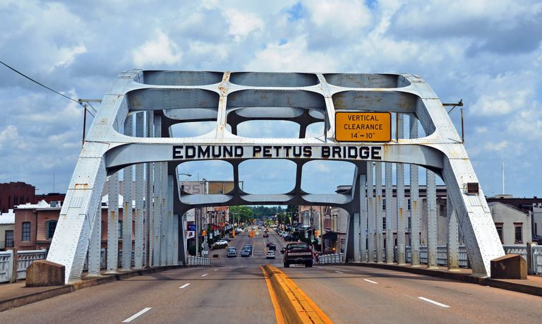 The historic Edmund Pettus Bridge in Selma, Alabama
