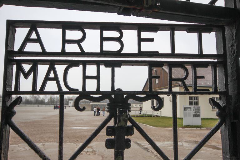 The gate at Dachau