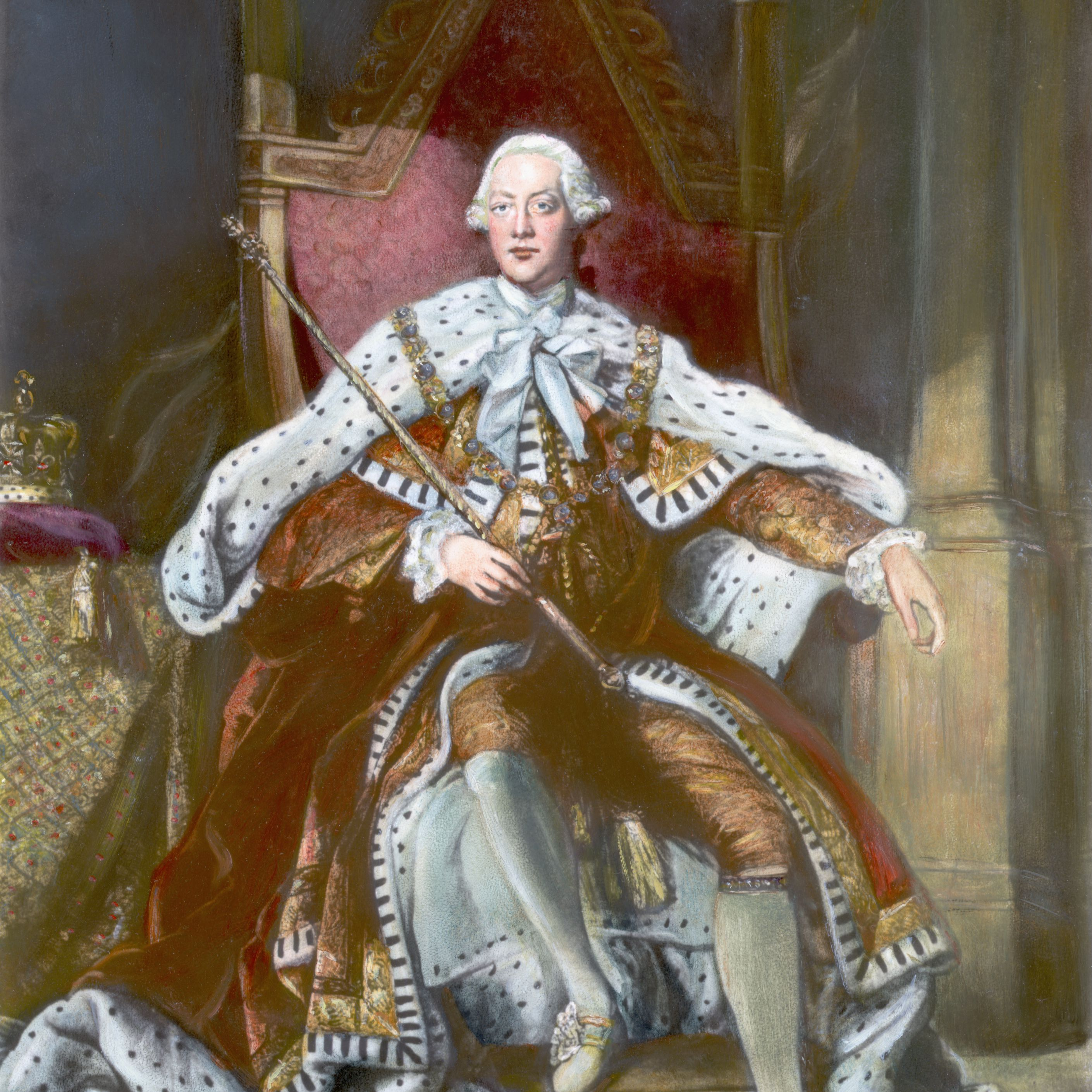 Portrait of George III, King of Great Britain and Ireland Enthroned