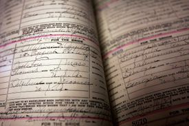 There are many different types of marriage records available.