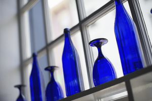 This glassware gets its deep blue color from cobalt.