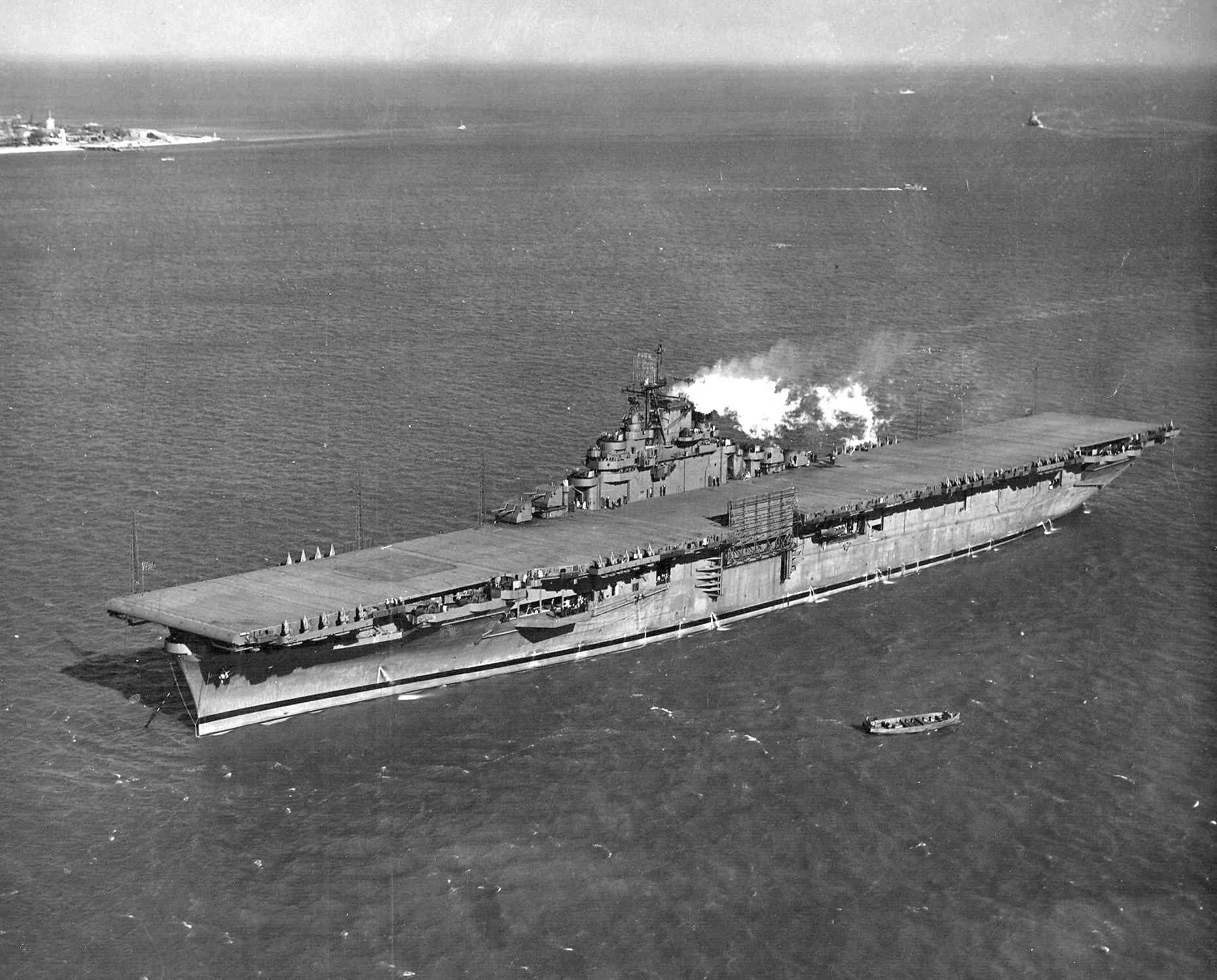 Photo of USS Essex at Hampton Roads