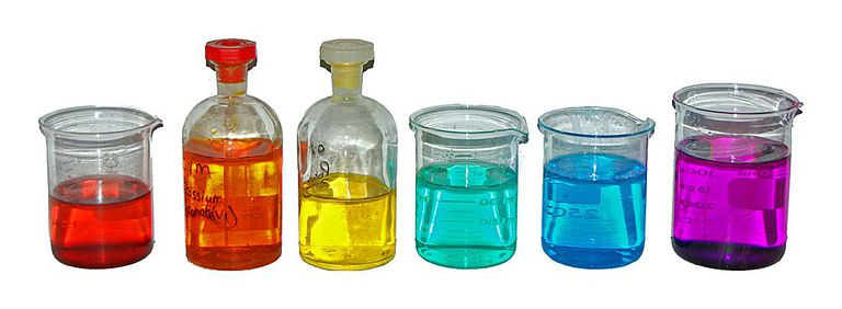 Colored Transition Metal Solutions