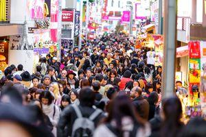 Tokyo Takeshita Dori street scene at rush hour, Japan