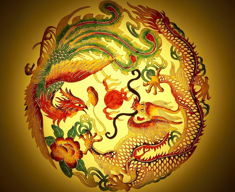 feng shui dragon phoenix marriage symbol