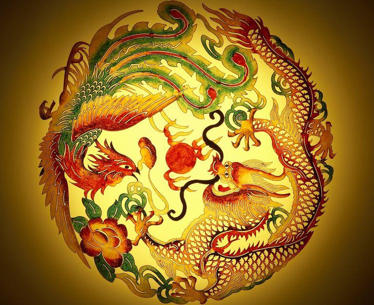 feng shui dragon phoenix marriage symbol