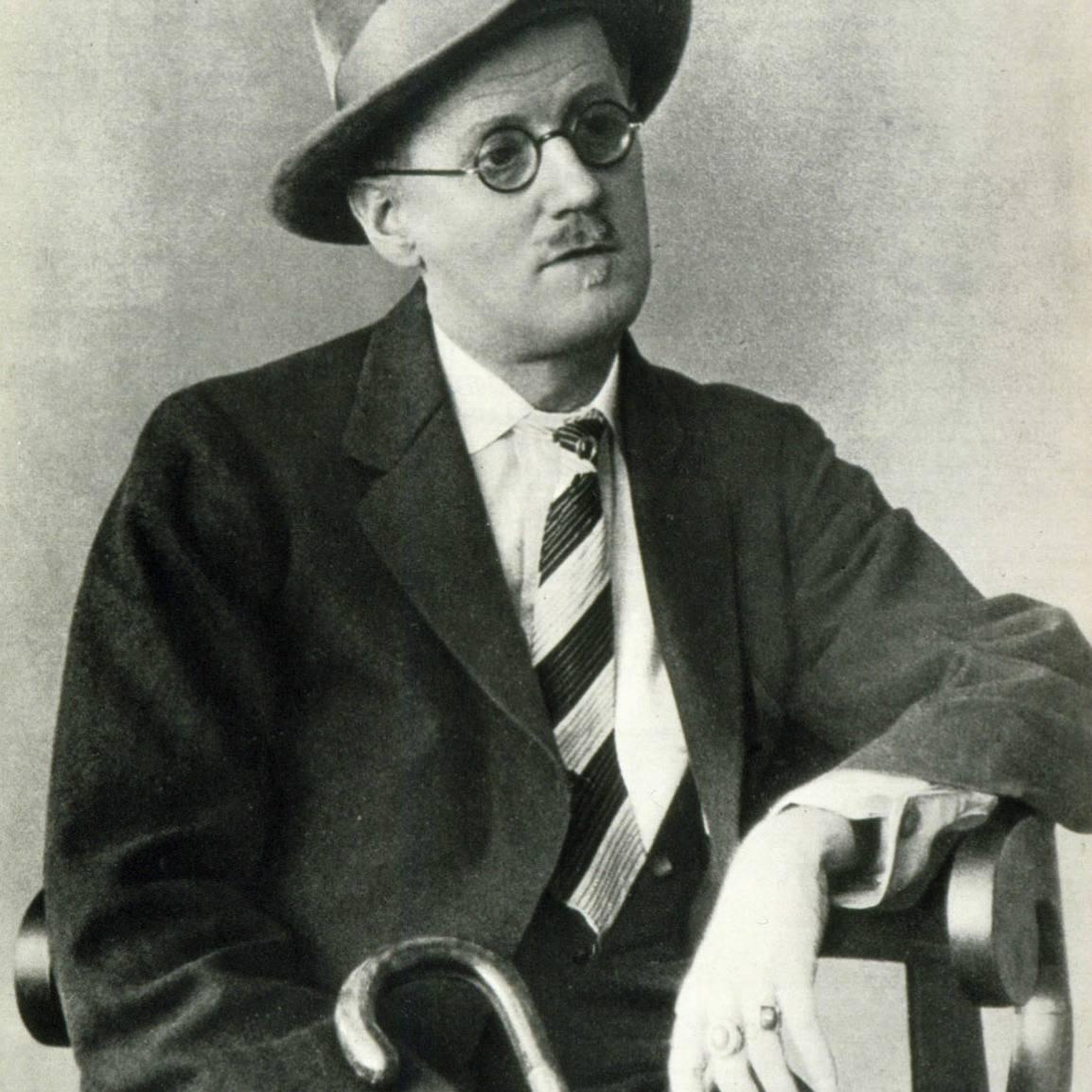 Portrait of Irish writer James Joyce
