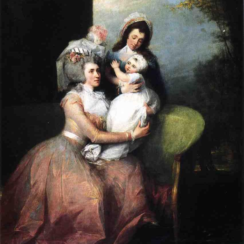 Angelica Schuyler Church with son Philip and a servant.