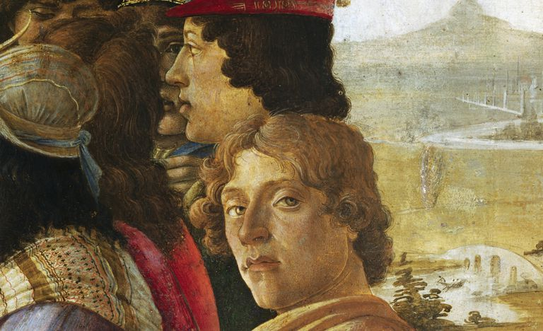 botticelli self-portrait detail adoration of the magi