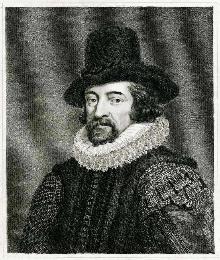 Engraving From 1837 Featuring The English Philosopher, Francis Bacon. Bacon Lived From 1561 Until 1626.