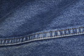 A section of blue denim jeans