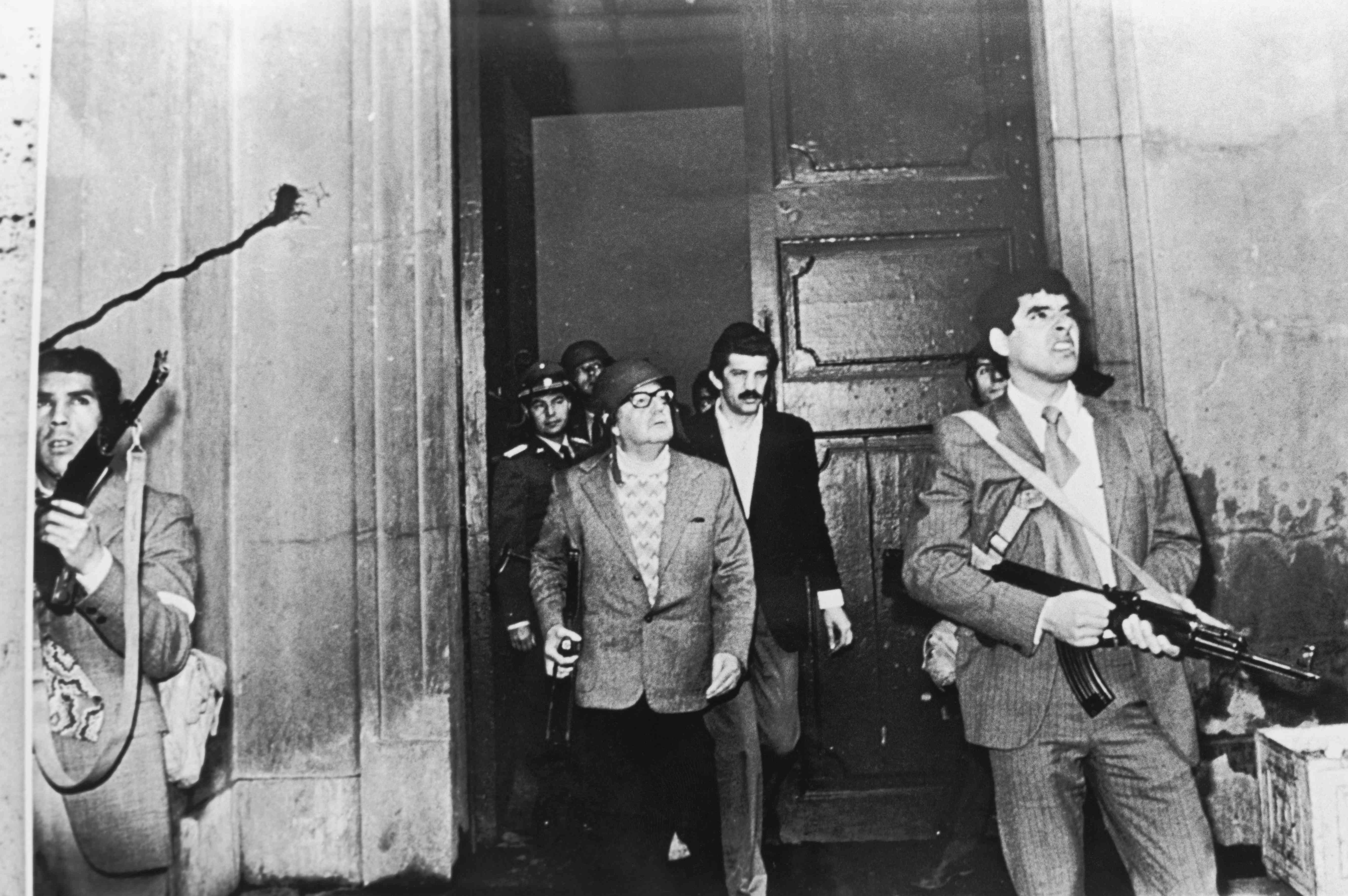 Salvador Allende the day of the coup