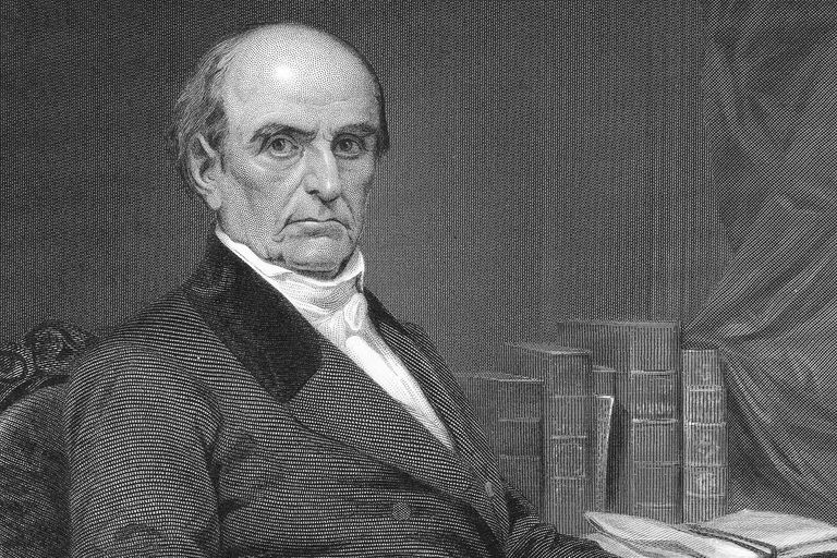 Engraved portrait of politician and orator Daniel Webster