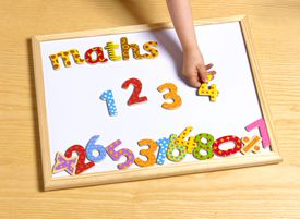 2 year old doing math