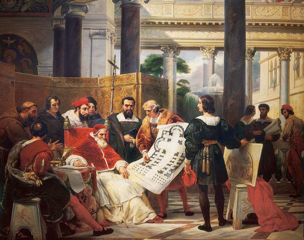 Pope Julius II ordering work on the Vatican and St. Peter's Basilica