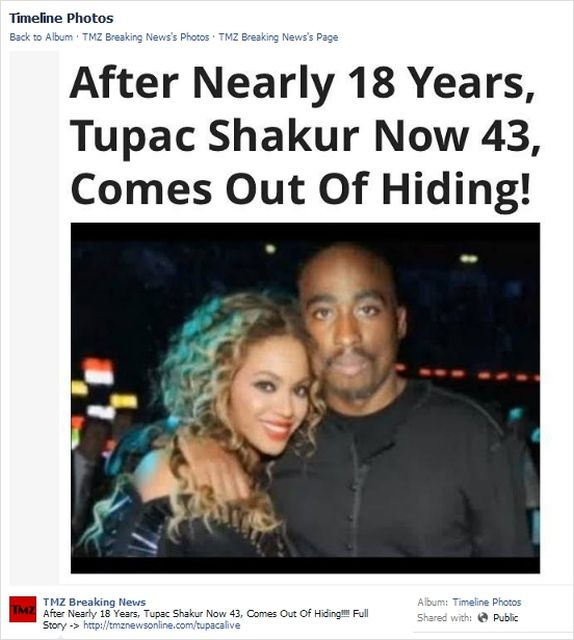 After Nearly 18 Years, Tupac Shakur, Now 43, Comes Out Of Hiding!