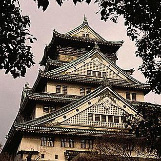 Osaka Castle, which stands today in the heart of Osaka City.