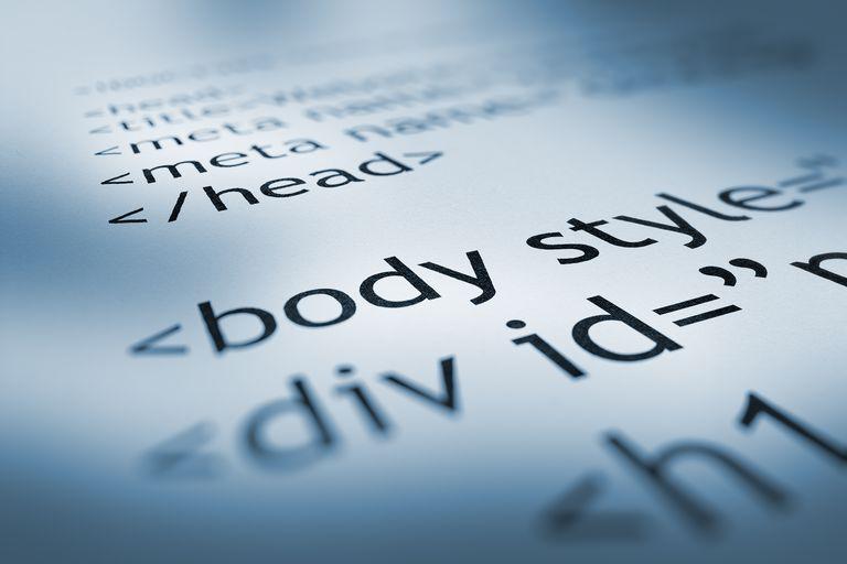 HTML code graphic