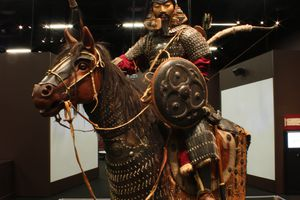 Mongolian warrior from the Denver Museum of Science and Nature exhibit display