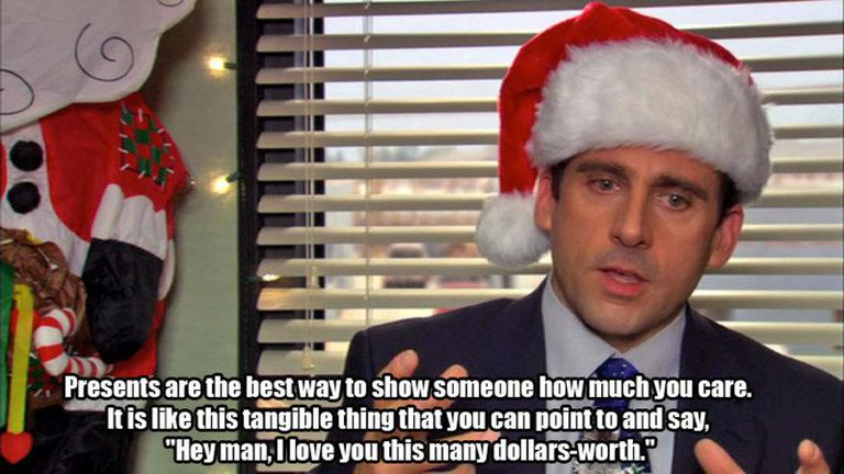 michael scott holiday meme - The Office Christmas Quotes