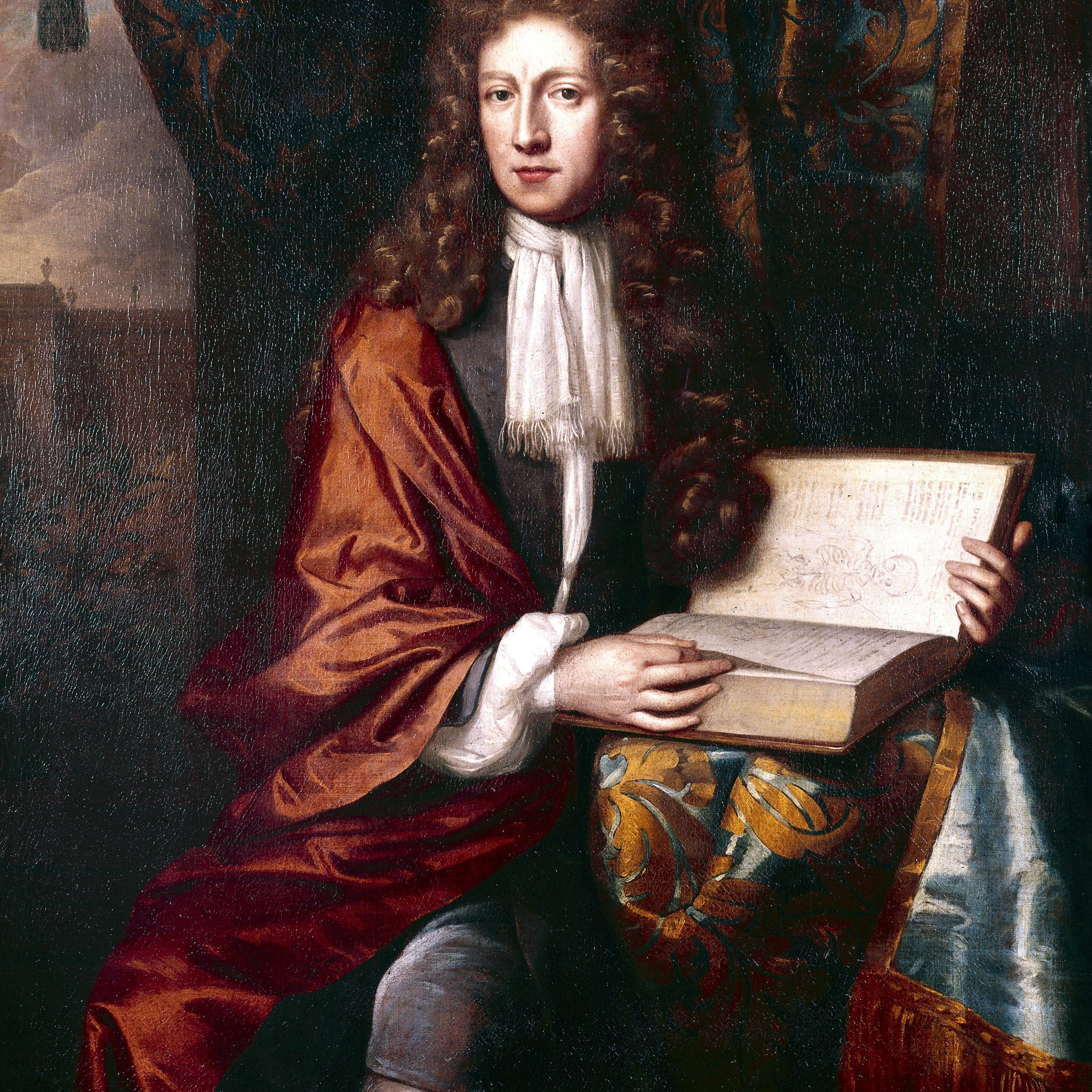Color portrait of Robert Boyle.