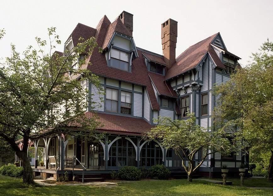 "Maison Physick Emlen, 1878, ""bâton de style"" par l'architecte Frank Furness, Cape May, New Jersey"