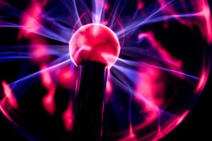 A plasma ball is a popular novelty toy that contains plasma.