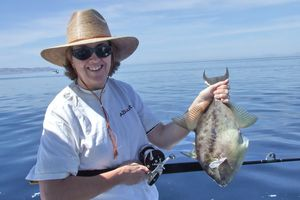 Linda Garrison with Sea of Cortez Fish