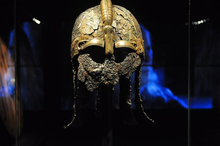 Warrior helmet from Valsgärde boat grave 5, 7th century,