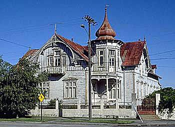 Maison Queen Anne avec des détails Eastlake