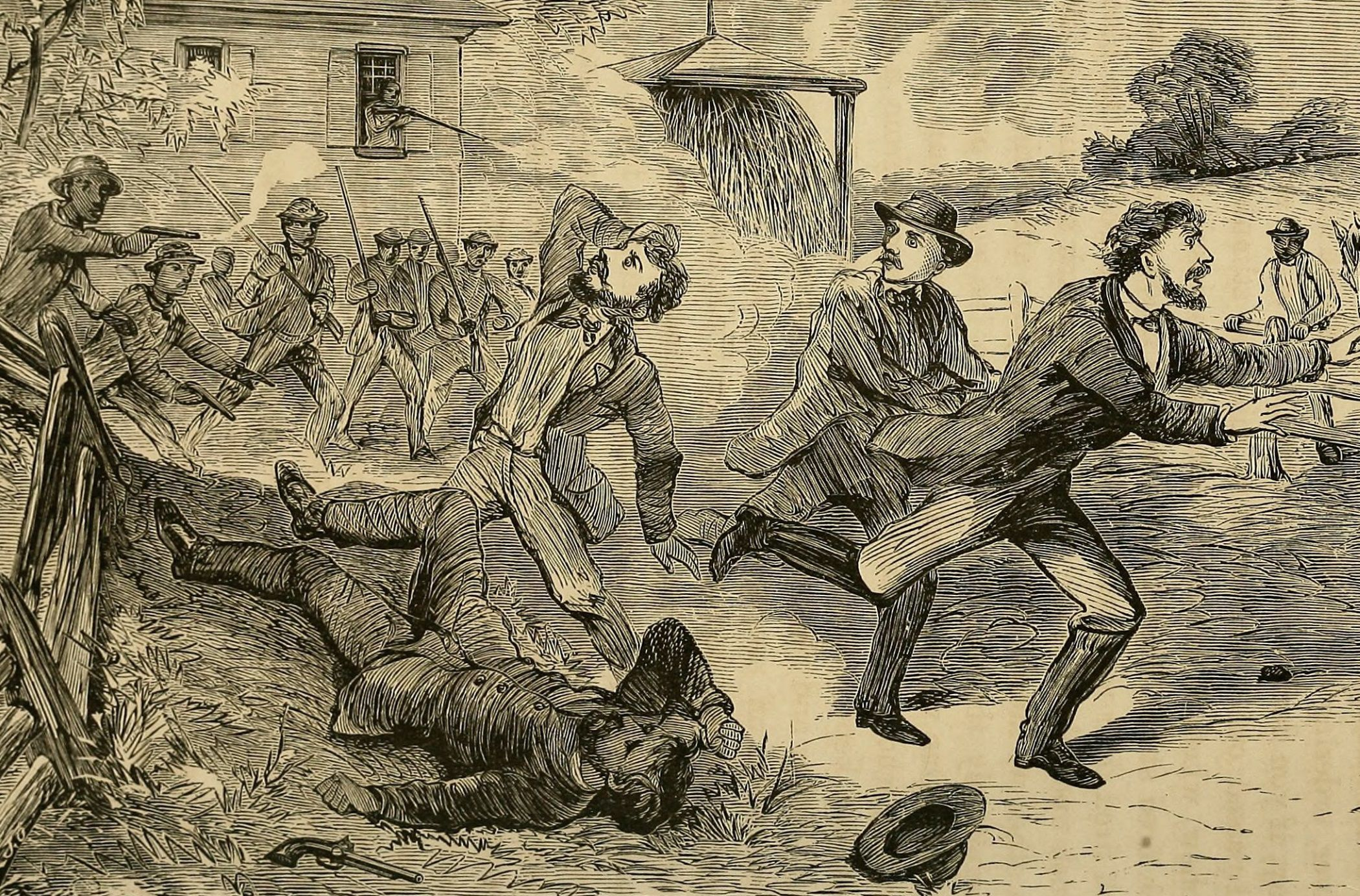 Engraved illustration of the Christiana Riot