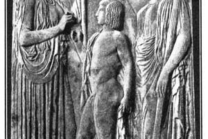 Frieze of Demeter and Persephone Consecrating Triptolemus