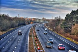 Multi lane highway in America