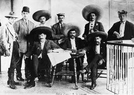 Emiliano Zapata and his staff